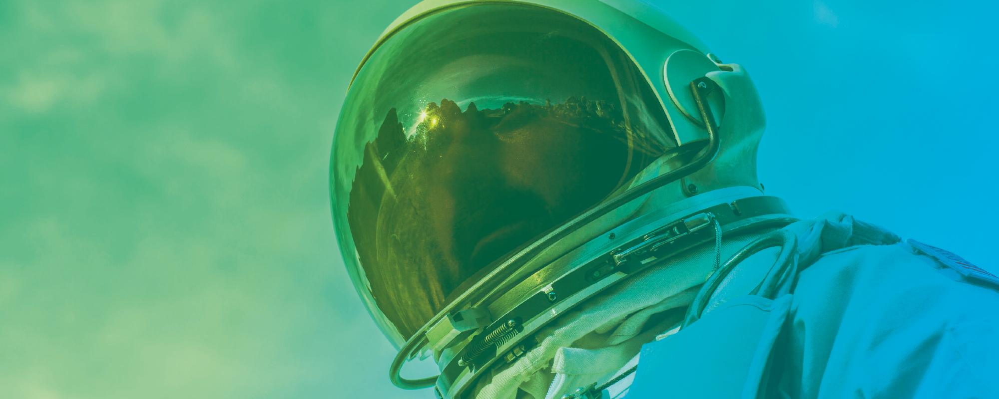 Illustratief beeld voor ICT en cloud provider (foto astronaut)
